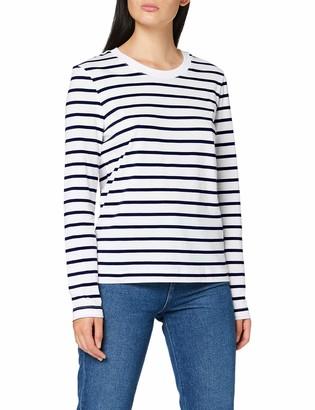 Selected Women's SLFSTANDARD LS New TEE STR B T-Shirt