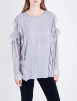 AG Jeans The Bijou silk-blend top
