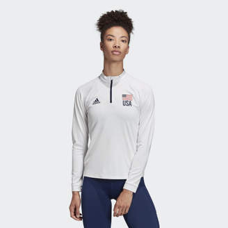 adidas USA Volleyball 1/4 Zip Tee