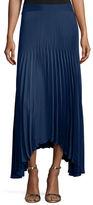 Ramy Brook Maxine Plissé Handkerchief-Hem Skirt