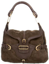 Jimmy Choo Shearling Tulita Shoulder Bag