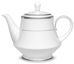 Noritake Regina Platinum Tea Pot, 38 Oz.