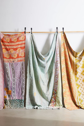 Urban Renewal Vintage One-Of-A-Kind Bleached Out Kantha Throw Blanket