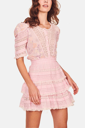 LoveShackFancy Pink Tulip Quincy Dress