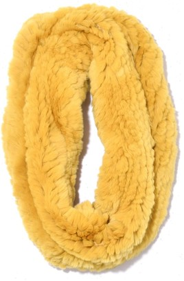 Yves Salomon Knitted Rabbit Snood in Bergamote