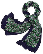 Tory Burch Block T Logo Oblong Scarf
