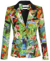 ALTUZARRA 'Finch' tropical printed cotton blazer