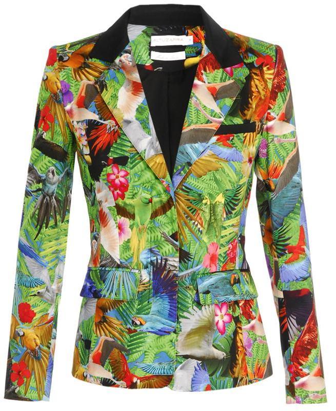 Altuzarra 'Finch' tropical printed cotton blazer