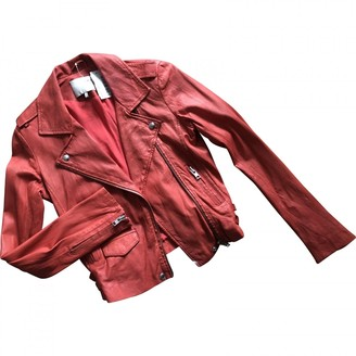 IRO Red Leather Leather jackets