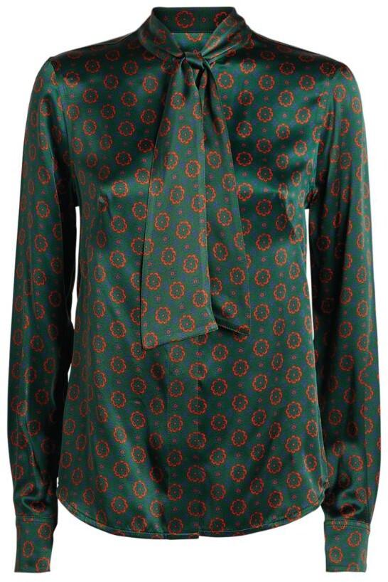 Victoria Beckham Silk Floral Pussybow Blouse