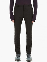 Lanvin Charcoal Side-stripe Wool Trousers