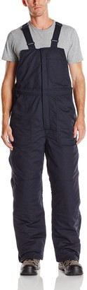 Bulwark Flame Resistant 7 oz Twill Cotton/Nylon Excel FR ComforTouch Long Deluxe Insulated Bib Overall with Concealed Snap Closure
