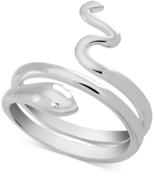 Essentials Snake Coil Ring in Fine Silver-Plate