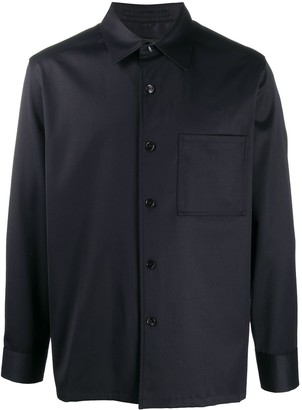 Theory Pointed Collar Long-Sleeved Shirt