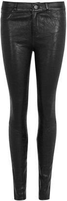Paige Hoxton black leather jeans