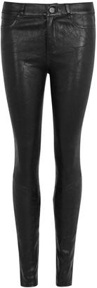Paige Hoxton Black Leather Jeans
