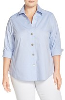 Foxcroft Plus Size Women's 'Paige' Non-Iron Cotton Shirt