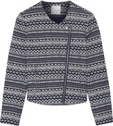 Joie Darnel intarsia cotton-blend jacket