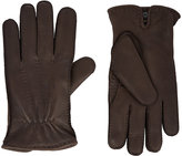 Barneys New York Men's Cashmere-Lined Gloves-DARK BROWN