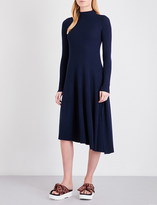 Mo&Co. Cutout midi pure-wool dress