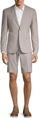 Saks Fifth Avenue Extra Slim Fit Stretch Short Suit
