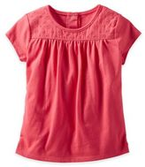 Osh Kosh Size 4T Eyelet Lace Short Sleeve T-Shirt in Red