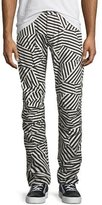 G Star G-Star Elwood X25 Dazzle Camouflage 3D Tapered Jeans, Black/White