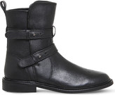 Office Loaded leather biker boot