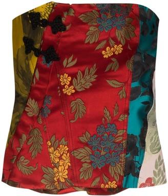Marques Almeida reMAde patchwork corset top