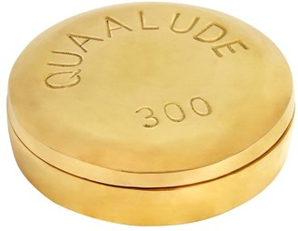 Jonathan Adler Quaalude Polished Brass Pill Box