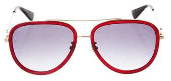 Gucci Glitter Gradient Aviator Sunglasses