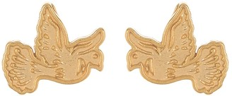 Alex and Ani 14K Gold Plated Sterling Silver Dove Stud Earrings