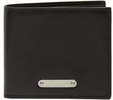 Saint Laurent Logo-plaque bi-fold leather wallet