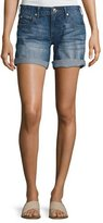 True Religion Emma Cuffed Bermuda Shorts, Blue Fest (Indigo)