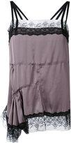 A.F.Vandevorst asymmetric lace trim blouse - women - Polyester - 36