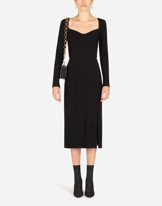 Dolce & Gabbana Stretch Jersey Sheath Dress