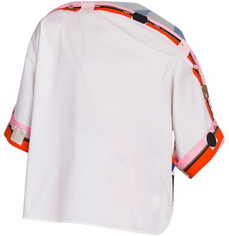 Emilio Pucci Zaffiro Asymmetric Stretch-Cotton Tunic