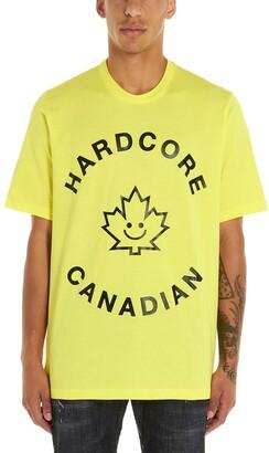 DSQUARED2 Hardcore Canadian Print Crewneck T-Shirt