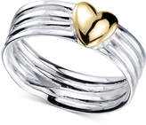 Unwritten Two-Tone Heart Ring in Sterling Silver