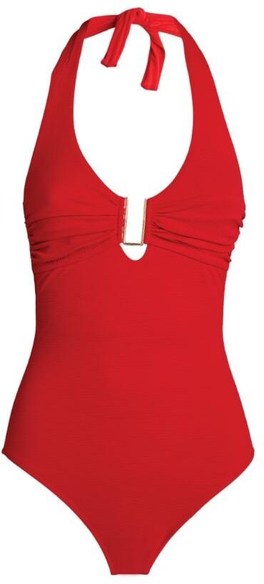 Melissa Odabash Tampa Halterneck Pique Swimsuit