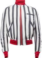 Haider Ackermann striped bomber jacket