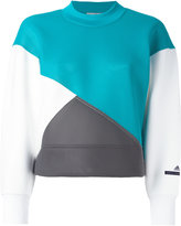 adidas by Stella McCartney colour block sweatshirt - women - Polyester/Spandex/Elastane - XS