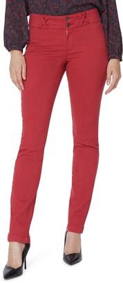 NYDJ Sheri Wide Waistband Slim Jeans