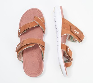Ryka Suede Slide Toe-Loop Sandals - Skye