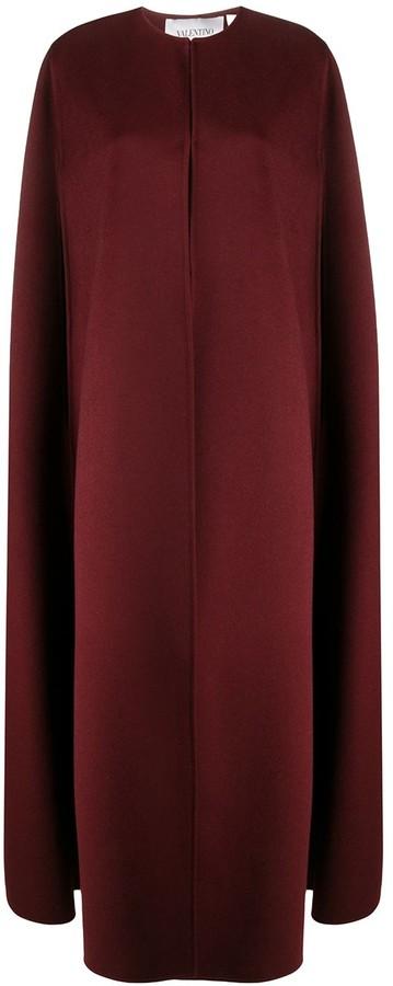 Valentino Long Cape Coat