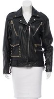 Rodarte Studded Leather Moto Jacket