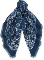 Loewe - Patterned Wool Scarf