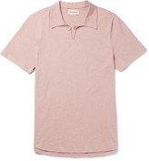 Oliver Spencer - Hawthorn Mélange Cotton-jersey Polo Shirt