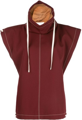 Jil Sander Hooded Gabardine Jacket