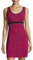 Cosabella Astaire Jersey Chemise, Deep Ruby/Black